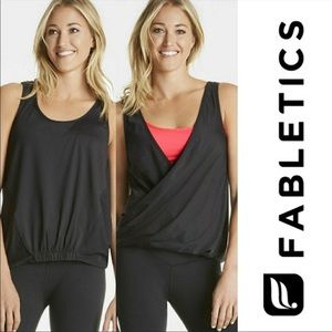 Fabletics Lucia faux wrap reversible tank top